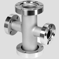 Vacuum Flanged Cross